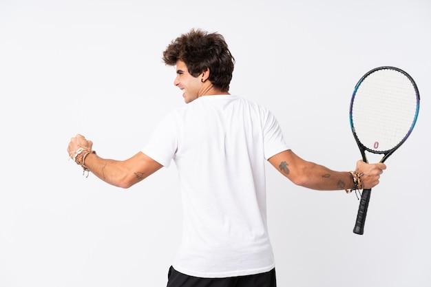 Young sport tennis man