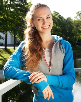 Young sporty woman outdoor