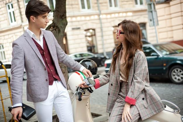 젊은 학생 커플
