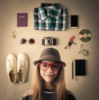 Young stylish girl