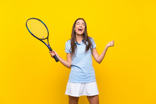 Young tennis player woman
