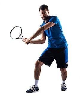 若いトレーニング人のテニスの長さ
