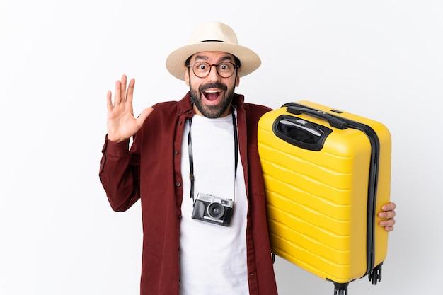 Young traveler man