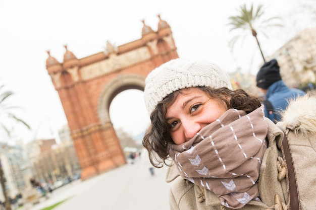 Young woman in barcelona
