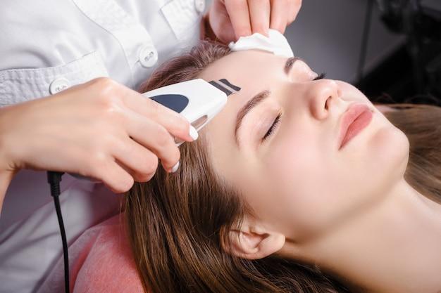 Young woman at beauty salon