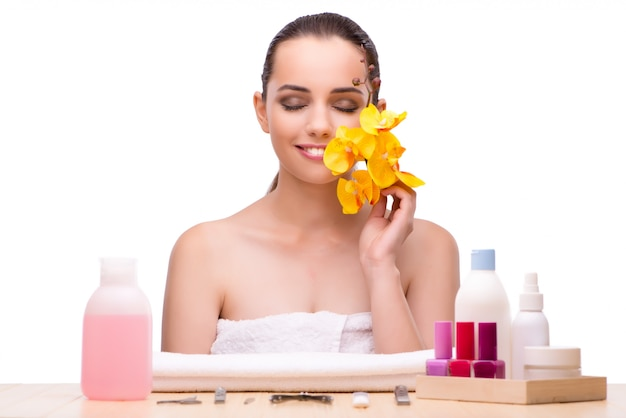 Young woman in beauty treatment,