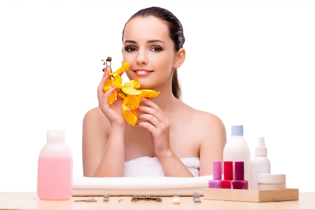 Young woman in beauty treatment