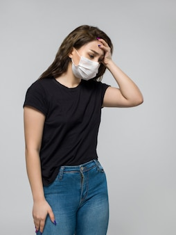 Young woman does not feel very well