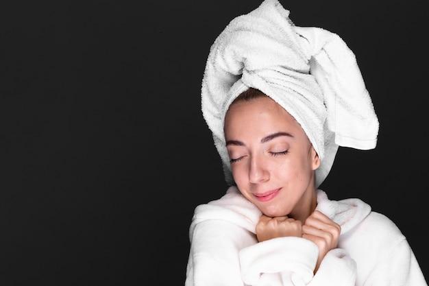 Young woman enjoying wellness treatment