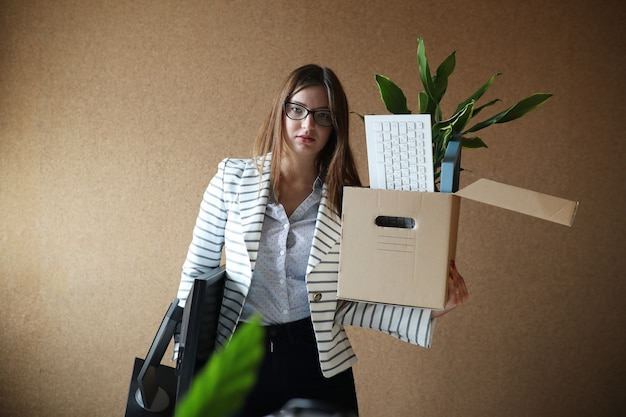 Young woman fired from work