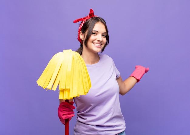 若い女性の家政婦