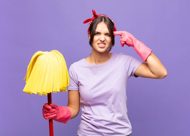 Young woman housekeeper