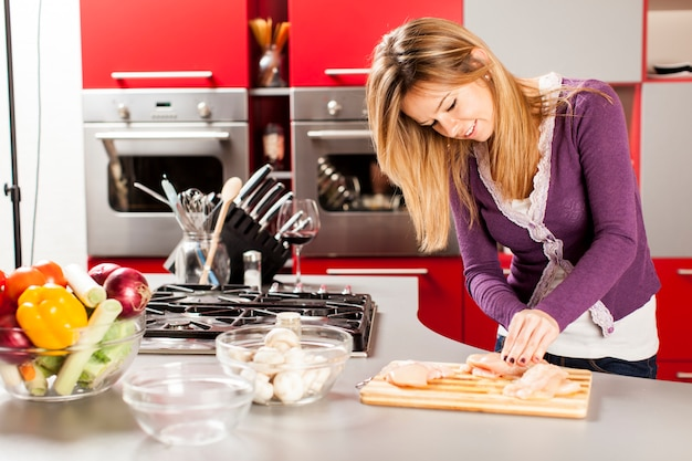 Young woman in the kitchen