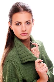 Young woman portrait posing