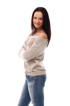 Young woman posing with crossed arms