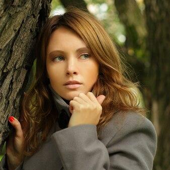 Young woman, season fashion portrait