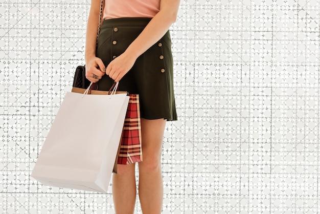 Young woman shopping consumer concept