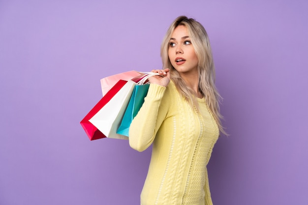 Young woman shopping some clothes