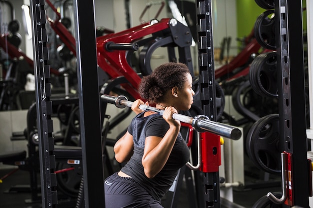 Young woman training in the gym