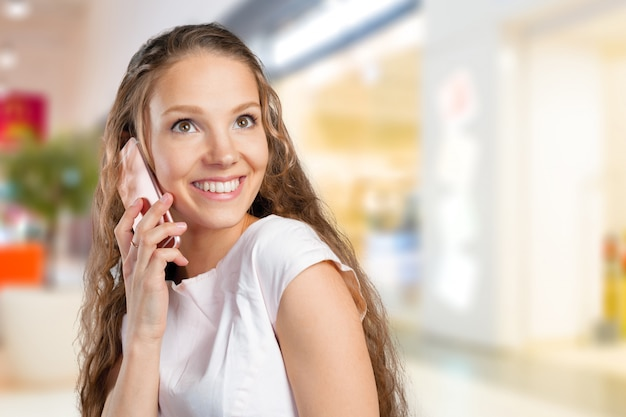 Young woman using a cell phone