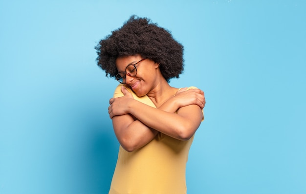 Young woman with afro hairstyle