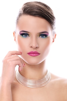 Young woman with beautiful make-up