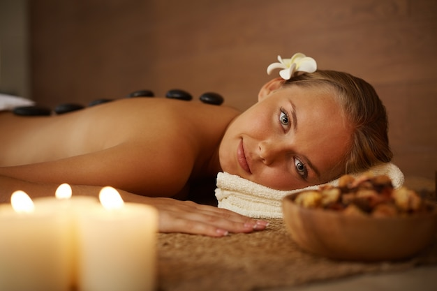 Young woman with beauty treatments