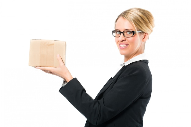 Young woman with a parcel