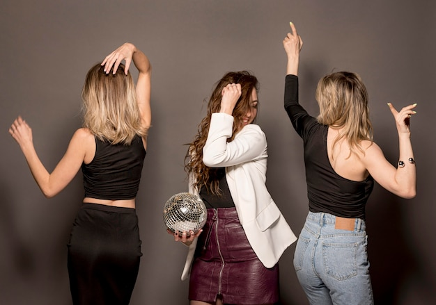 Young women at party having fun