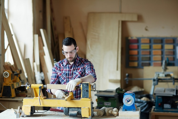 Young woodworker