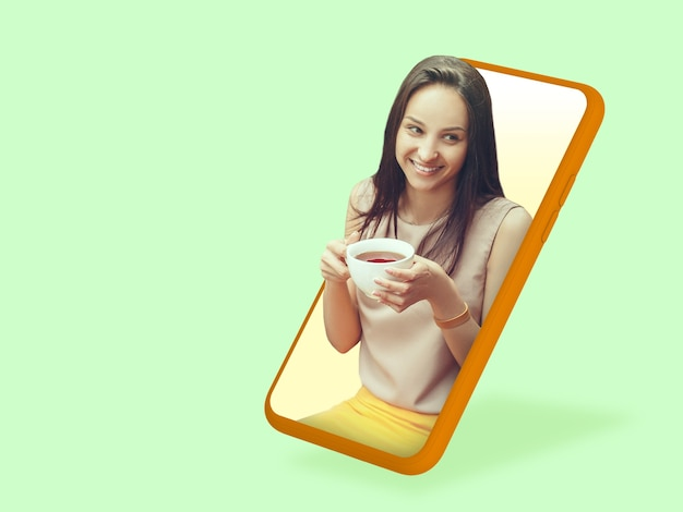 Your smartphone or other device  all you need for modern lifestyle copyspace for ad