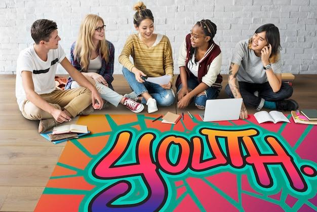 Концепция стиля рисования слова молодежи улицы