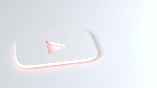 Youtube icon on a white