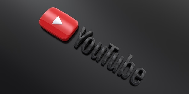 Youtube логотип 3d фон скачать бесплатно