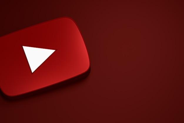 Youtubeロゴ3dレンダリング