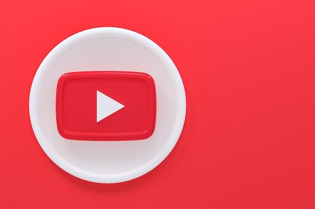 Youtube логотип 3d-рендеринга