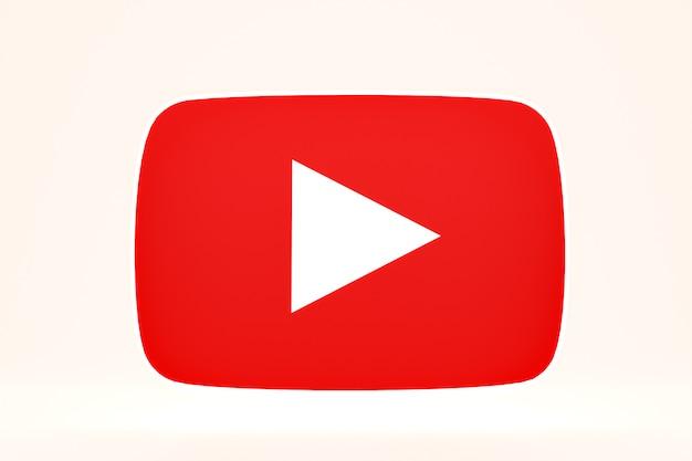 Youtube 로고 및 비디오 플레이어 디자인 또는 비디오 미디어 플레이어 인터페이스