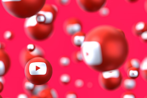 Youtube reactions emoji 3d render