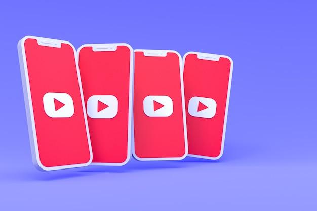 Символ youtube на экранах смартфонов