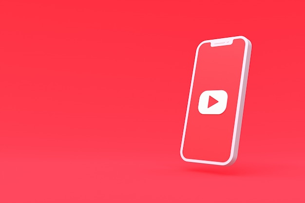 Youtube symbol on smartphone screen