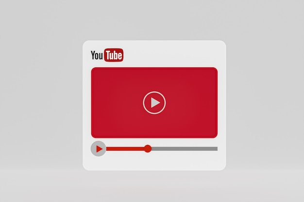 Дизайн видеоплеера youtube или интерфейс видеоплеера