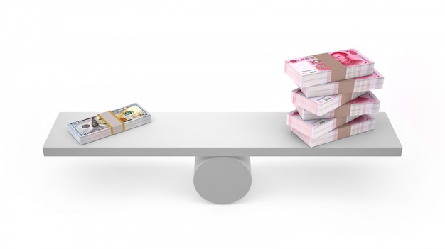 Yuan and dollar on balanced isolated