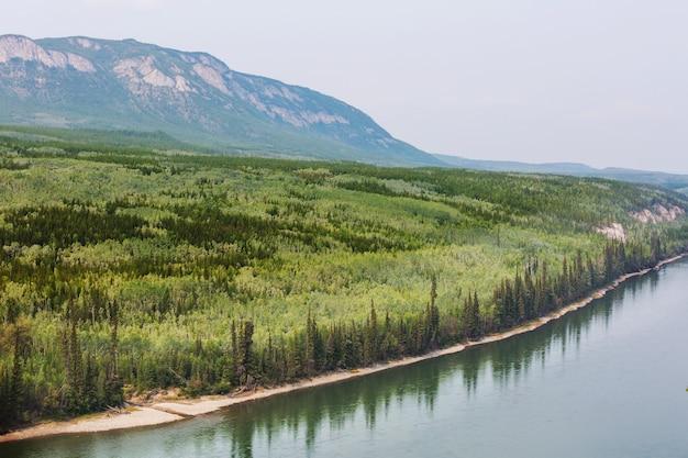 Река юкон в летний сезон, канада