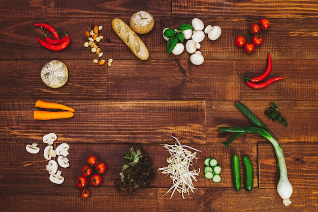 Yummy food salud veggie lifestyle Premium Photo