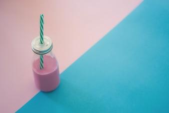 Yummy pink milkshake