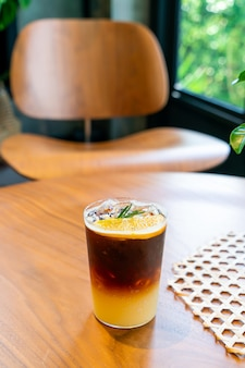 コーヒーショップカフェレストラン柚子オレンジコーヒーグラス