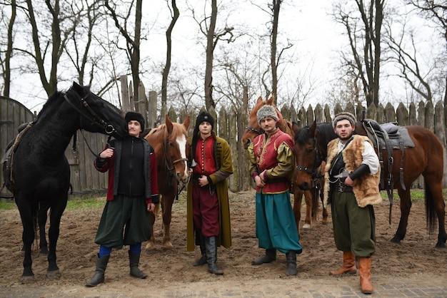 Запорожский казак из запорожского войска в национальном костюме