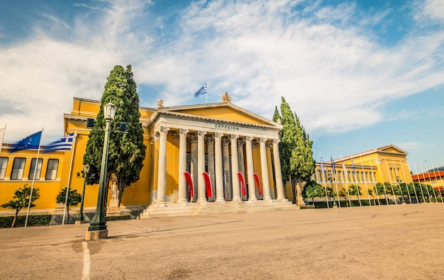 Zappeion building in athens greece against cloudy sky