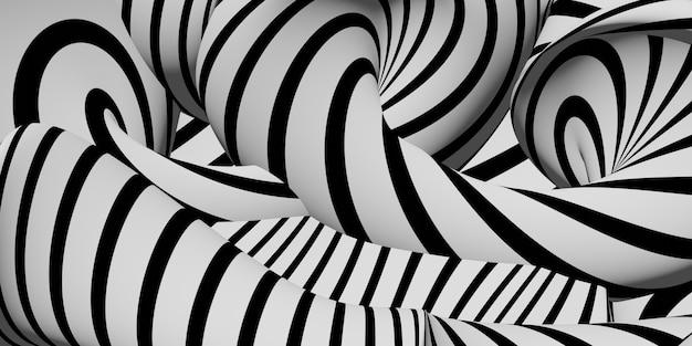 얼룩말 추상 파도 리플 배경 이미지 3d 그림