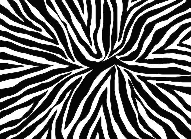 シマウマの肌のパターン